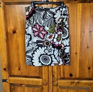Jones New York Silk Floral Skirt S8
